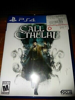 Call Of Cthulhu PS4 Sony Playstation RPG investigation game great condition