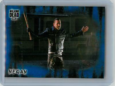 2018 Topps Walking Dead Hunters and the Hunted BLUE #2 Negan #34/50