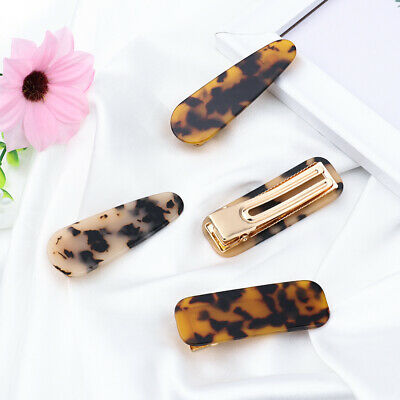 Rectangle Acetate  Hairgrips  Acrylic Hair Clips Leopard Hairpins Barrettes
