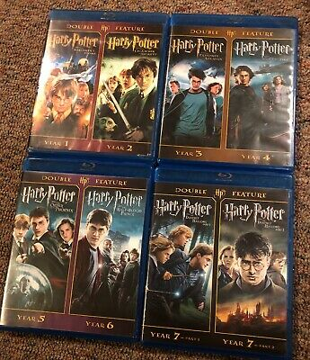 Harry Potter - The Complete 8 Film Movie Collection Blu-ray Double Feature Set