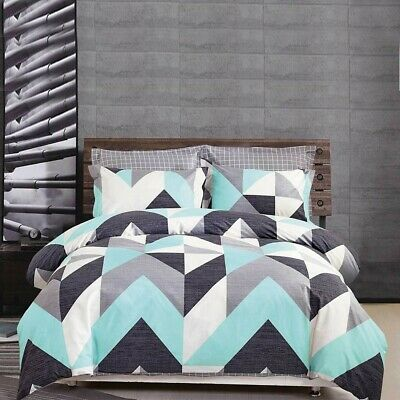 Single/KS/Double/Queen/King/Super K 100% Cotton Quilt/Duvet Cover Set-Chevron