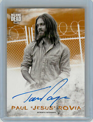 2018 Topps Walking Dead Hunters Hunted Rust AUTOGRAPH Tom Payne as Jesus #88/99
