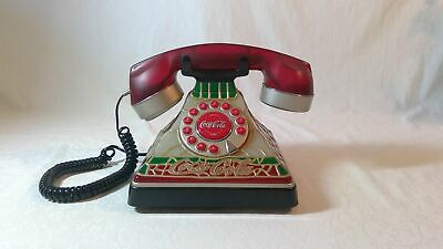 Coca-Cola Stained Glass Look Telephone Phone