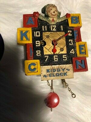antique clock - KIDDY CLOCK - VERY OLD