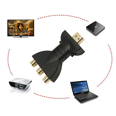HDMI to 3 RGB RCA Adapter Video Audio Gold-Plated AV Component Converter 2019 US