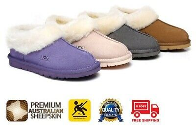 Ever UGG Slippers Homey, Unisex, Premium Australian Sheepskin,Suede Upper
