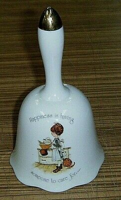 Vintage c1974 Holly Hobbie Porcelain Bell