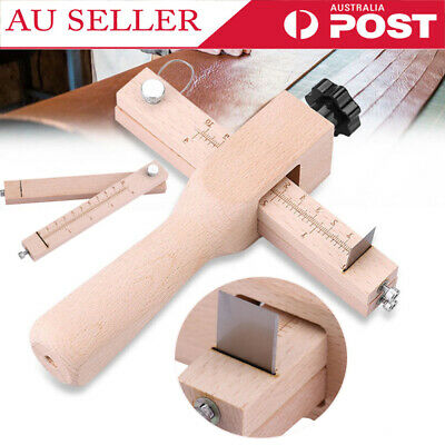 Wood Belt Cutter Leather Craft Strap Maker Cutting Tool Cutting Ruler +5 Blades