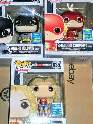 SHELDON AS THE FLASH w TROPHY ☆ Funko Pop! tv BIG BANG THEORY SHARED EXCLUSIVES