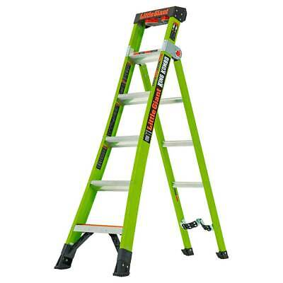 Little Giant King Kombo™ Industrial - Heavy Duty 3-In-1 Ladder Hi-Viz Green GRP