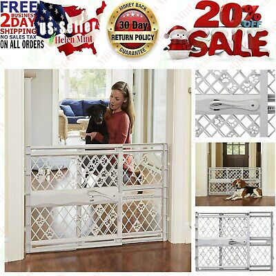 Baby Safety Gate Indoor Fence For Pet Cat Dog Toddler Child Walk Thru Plastic
