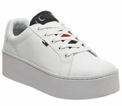 Womens Tommy Hilfiger Icon Padded Trainers White Trainers Shoes