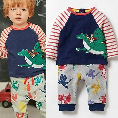 Mini Boden Baby Printed Jersey Play Set Top & Pants RRP £35 0/3Months - 3/4years