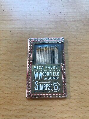 Vintage Packet W. Woodfield & Sons Sharps 6 Sewing Needles