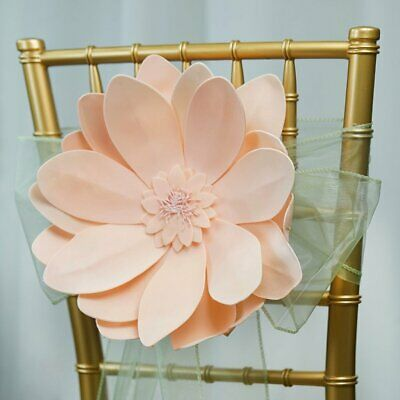 """4 Pack 12"""" Real Feel Foam Dahlia Flowers For Walls Backdrops Centerpieces"""