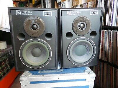 Electrovoice Sentry 100 Working Pair With Original Grills And Flight Cases.