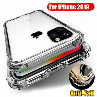 For iPhone 11/11 Pro/11 Pro Max Case Clear Shockproof TPU Hybrid Bumper Cover CA
