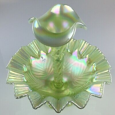 Fenton Glass Topaz Opalescent Limited  Edition Single EPERGNE HORN