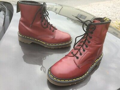 Dr Martens 1460 cherry red leather boots UK 6 EU 39 Made in England