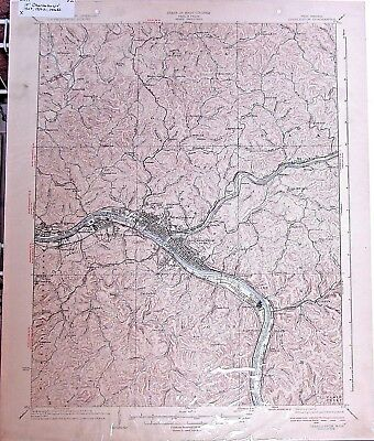 USGS 15' Charleston, WV topographic map 1936 edition