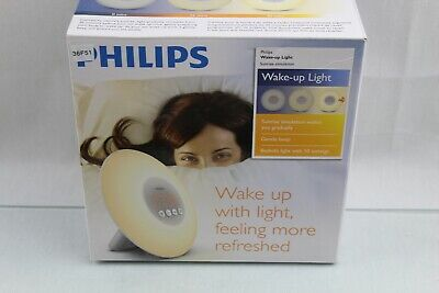 Philips Wake-Up Light Alarm Clock with Sunrise Simulation, White (HF3500/60)