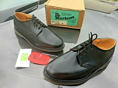 Solovair 9337 black leather shoes UK 9 EU 43 Made in England (Dr Martens soles)