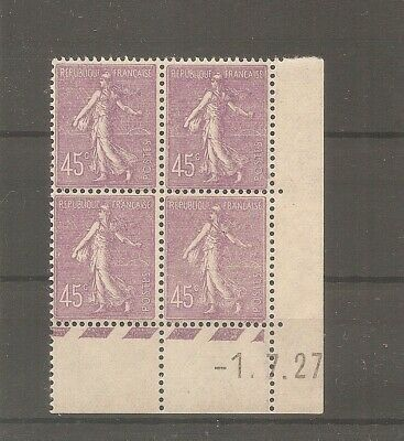 Timbre France Frankreich Semeuse 1927 N°197 Neuf** Mnh Coin Date