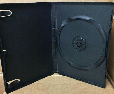 10 New DVD/Media Cases, Black, 14mm Single Disc, w/Art Clips, Wrap Around Cover
