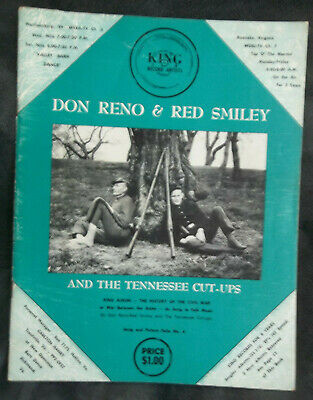 DON RENO & RED SMILEY & Tennessee Cut-Ups SHOW Program AUTOGRAPHED by DON RENO
