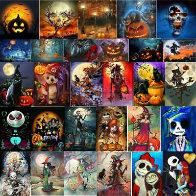 5D DIY Full Drill Diamond Painting Halloween Cross Stitch Hnad Embroidery Mosaic