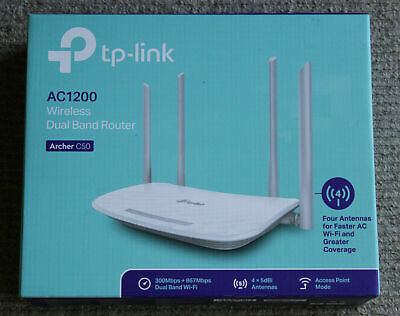 TP-LINK AC1200 ARCHER 50 Ver 4 Dual Band Wireless Wifi Router 4 x LAN, 1 x WAN