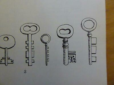 Collect Antique Keys And Locks Super Book - Ages Types Makers Rarity Picks Safe