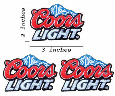 Lot of 3 Coors Light Beer Embroidered Iron On Patch.