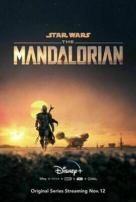 RT080 Hot New Movie Star Wars Mandalorian 2019 TV Series Poster Art