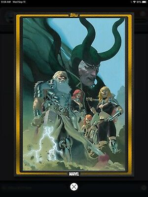 Topps Marvel COLLECT! GOLD Comic Book Day Cover King Thor #1 DIGITAL 1000c