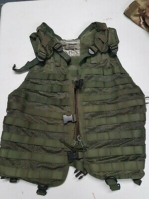 Dutch Army Olive Green Molle Assault Vest Tactical Military Webbing Airsoft