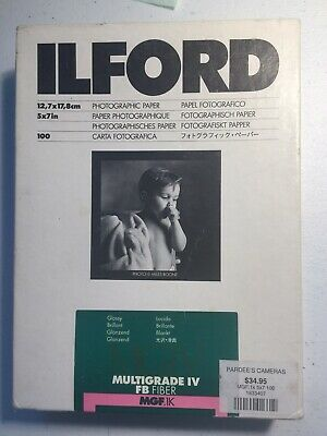 Ilford Multigrade IV FB Fiber Glossy 5 x 7 Photographic Paper 80 plus sheets