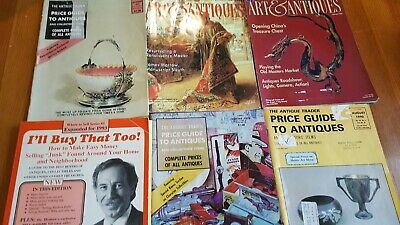 Lot (5) Antique-Collectible Price Guide Mags & BK: Traders-Arts & Antiques-Book