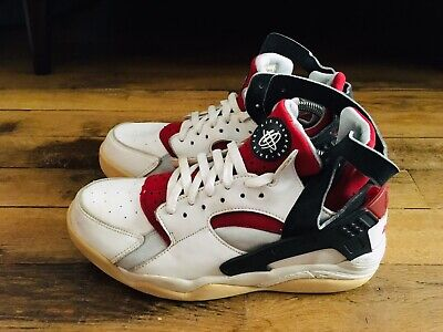 NIKE AIR FLIGHT Huarache White Red 2003 OG Size 9 US 42.5