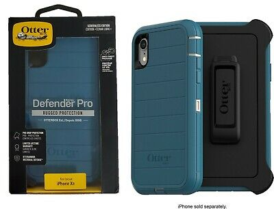 OtterBox Defender Series Pro Screenless Edition Case for iPhone XR Big Sur Blue