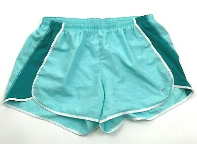 CHAMPION Women's Sky Blue Shorts Size L Large Lined Teal Pull On Short Fitness