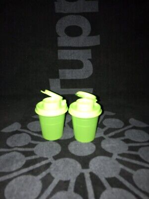 Tupperware Salt N Pepper Shakers New 1 Set Green 2nd Set Blue