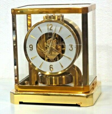 JUST CLEANED SERVICED 1960s JAEGER LECOULTRE 528 ATMOS CLOCK #206XXX WORKING
