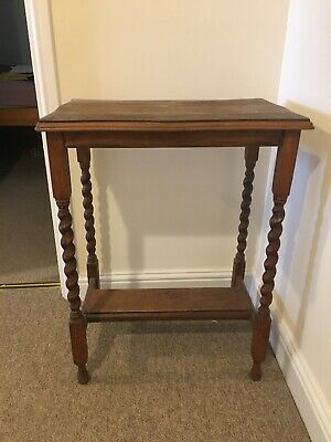 Sweet Old Table With Barley Twist Legs