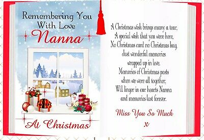 Christmas Nanna  Graveside Rememberance Memorial Card & Holder
