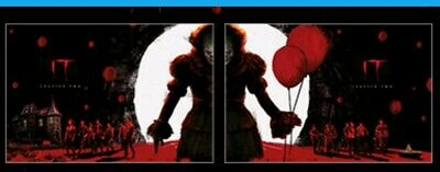 ODEON Exclusive IT Chapter 2 A4 Poster Parts 1 and 2 Complete set.