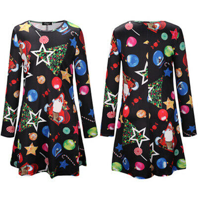 Family Dress Mother-Daughter Matching Xmas Vintage Printed Long Sleeve Dresses