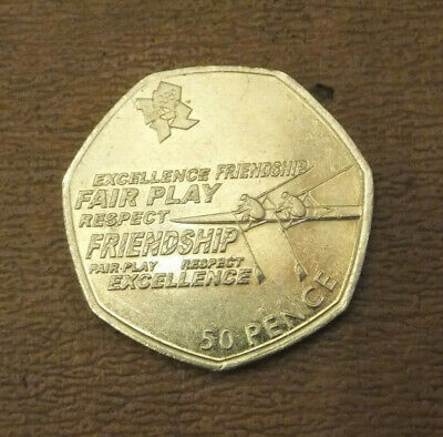 2011 London Olympic 50P Fifty Pence Coin Rowing