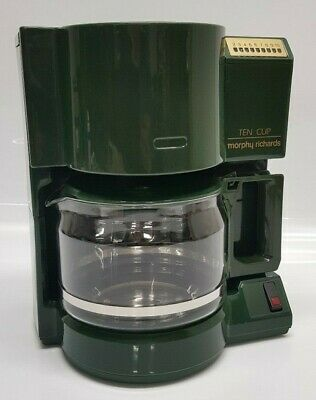 Morphy Richards Ten Cup Coffee Machine Teasmade Model 47403 Green New Filter