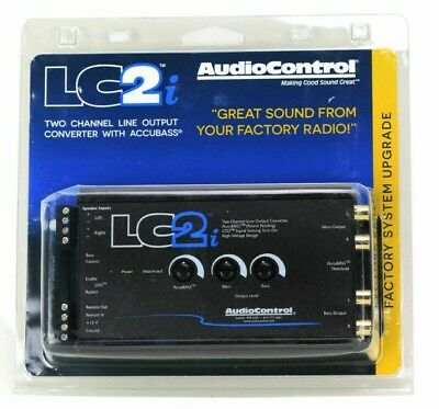 AudioControl LC2i 2 Channel Line Out Converter with AccuBASS - Black BRAND NEW